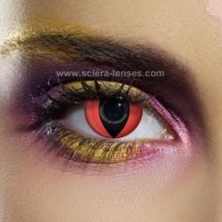 Red Cat Eye Contacts